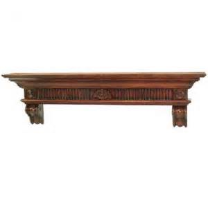 distressed cherry finish wood mantel hardwood