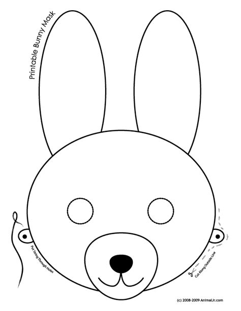 printable animal eye masks printable bunny mask coloring page woo jr kids activities