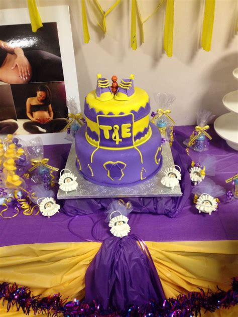 lakers baby shower cakes baby shower purple baby boy shower boy shower