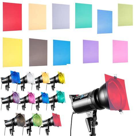 gel filters for lights 12 quot 11 color set gel filter for strobe light photography