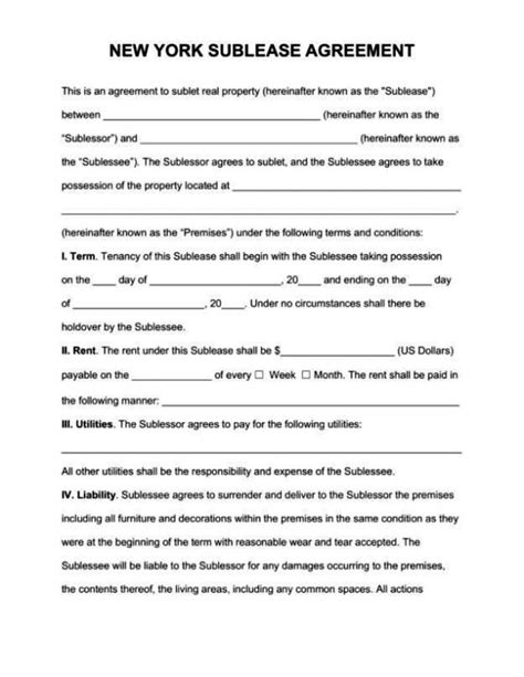 free commercial sublease agreement template sletemplatess