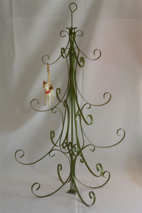 vintage metal christmas tree table top by