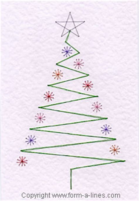 tree card stitch template free tree card pattern at form a line