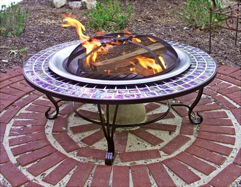 Firepits Direct Asia Direct 40 Inch Glass Mosaic Pit Table