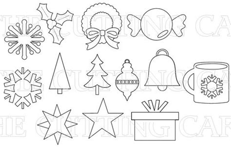 printable holiday shapes the cutting cafe christmas basic shapes templates