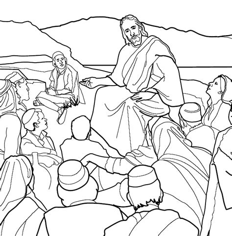 coloring pages of jesus sermon on the mount sermon on the mount clipart 59