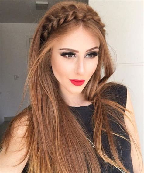 headband hairstyles for long hair gorgeous braided rope headband long hairstyles 2017 2018