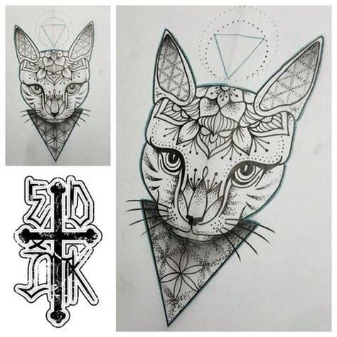 tattoo cat mandala cat mandala tattoo tattoos pinterest cats mandala