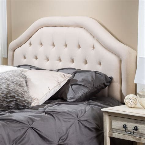 Best Fabric For Tufted Headboard by To Sized Beige Fabric Headboard W Button