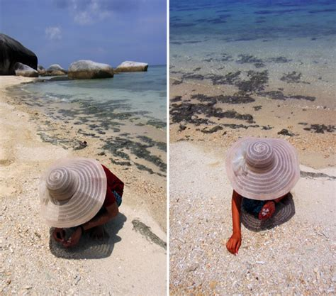 sesi pemotretan di pulau gede belitung danan wahyu sumirat