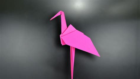 How To Make A Flamingo Out Of Paper - origami flamingo in br