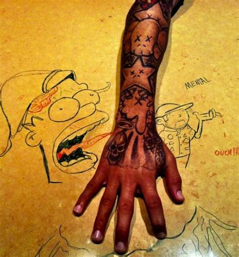 chris brown hand tattoo 13 best tattoos images on bird black