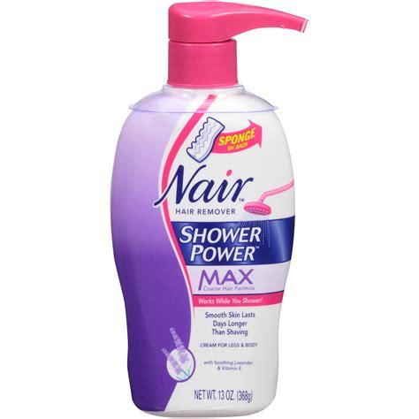 nair shower power hair removal om hair