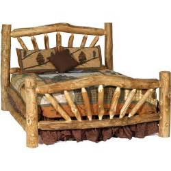 king size log bed aspen log mountain bed my