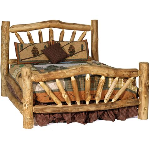king size log bed aspen log mountain bed