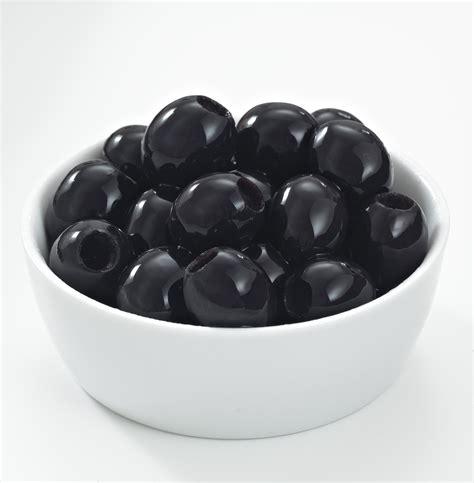 black olive olives in a white bowl california ripe olives
