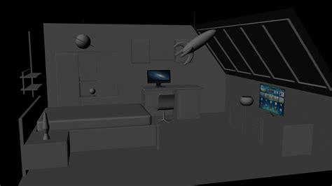 room modeling 3d room modelling on behance