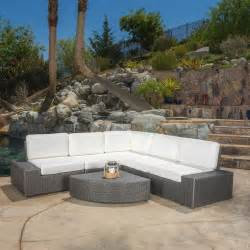 grey patio furniture outdoor patio furniture 6pc grey wicker sofa sectional set