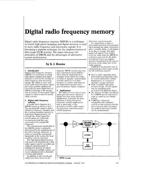 DRFM basic paper | Analog To Digital Converter | Bandwidth