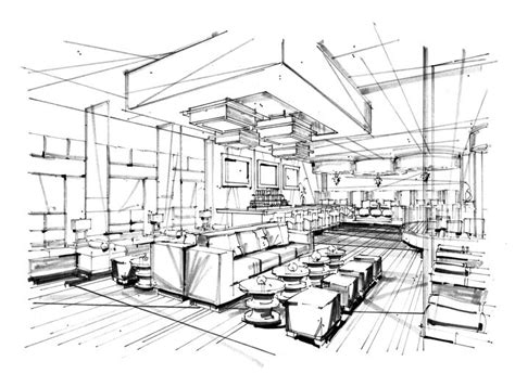 sketchup layout grid lines 132a p5 restaurant dining