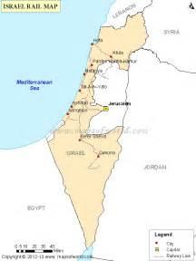 israel rail map railway map of israel