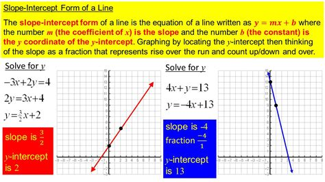 slope of 1 section 3 4 the slope intercept form of a linear equation
