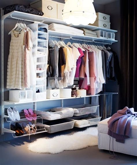 ikea open closet ikea algot interior design closet pinterest first