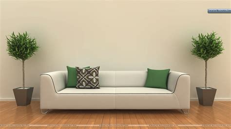 White Sofa In A Room Wallpaper