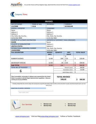 Free Proforma Invoice Templates [8 Examples   Word/Excel]