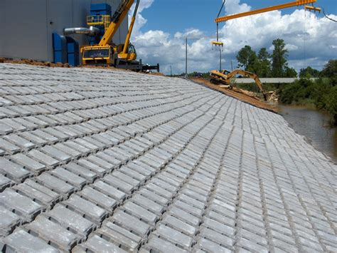 Concrete Mat by Articulated Concrete Mats Protect Shipbuilding Operation