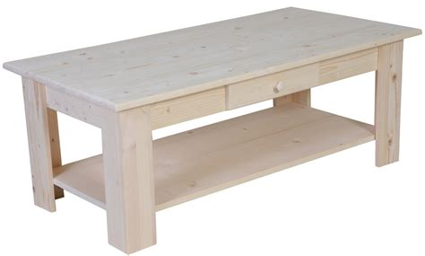 Table Basse Bois Brut à Peindre by Table Basse Pin Brut