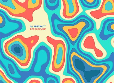 abstract paper cut colorful wavy   shapes pattern