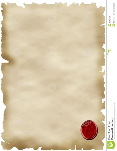 sealing paper parchment paper and seal stock photo image 1540760