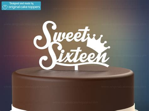 """Sweet Sixteen""   White   16th Birthday Cake Topper"