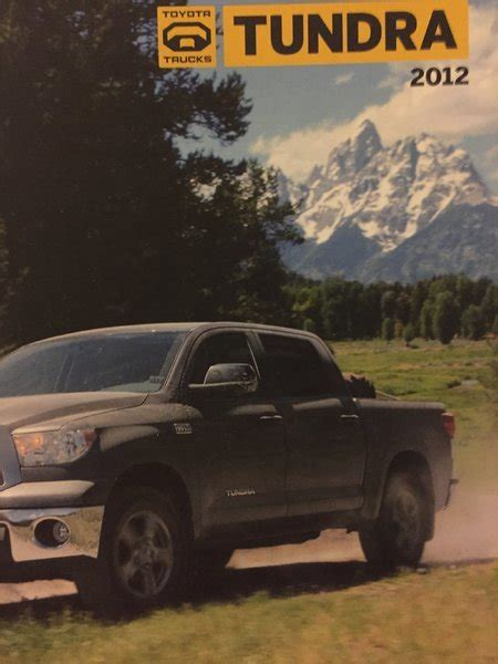 2012 Toyota Tundra Brochure I Found More Brochures That Will Be Free To Home