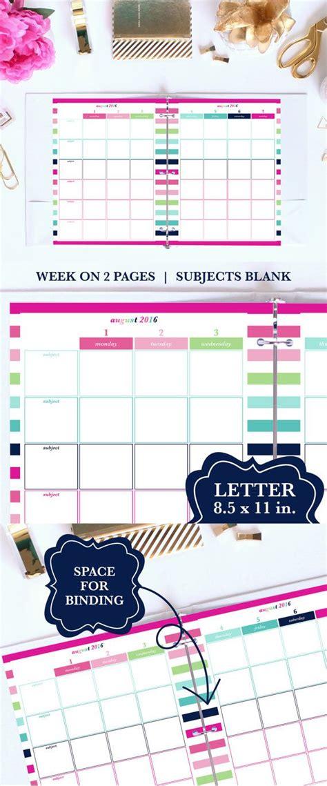 printable student planner 2016 free 2016 2017 weekly planner printable academic planner