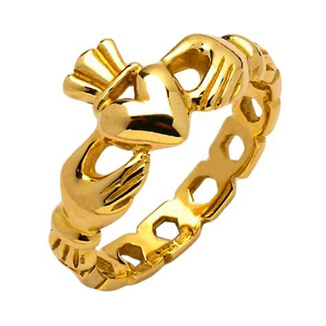 gold claddagh ring mask 14k gold