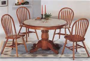 Oak Dining Room Table Chairs Classic Oak Dining Room Table Deluxe Arrow Back Chairs