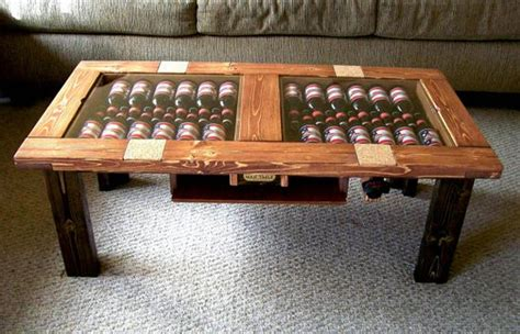 manly coffee table the table stack up two cases of into your coffee