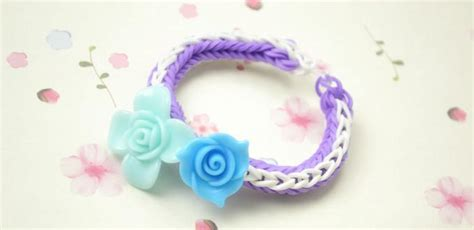 How to Make a Rose Double Cross Loom Bracelet with Rubber Bands  Pandahall.com