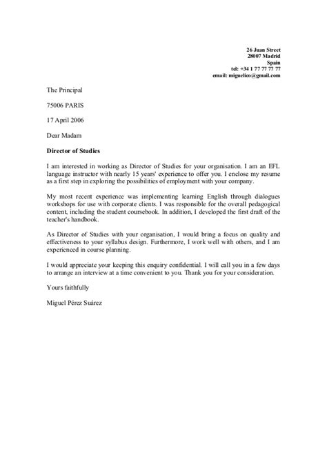 Dear Principal Cover Letter 2 By Trini Former Student Eoi Cartagena