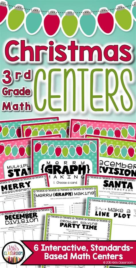christmas math centers first grade math centers for third grade 1000 images about math ideas on