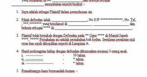 contoh surat pernyataan cerai gugatan cerai