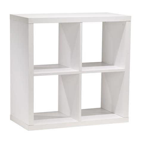 white cube bookshelves 4 cube bookcase rona