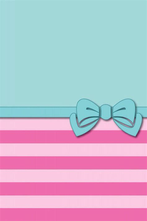 wallpaper pink bow green and pink stripes bow cute phone wallpaper