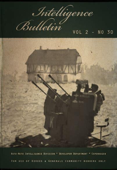 The Generals Vol 2 intelligence bulletin vol 2 no 30 news heroes