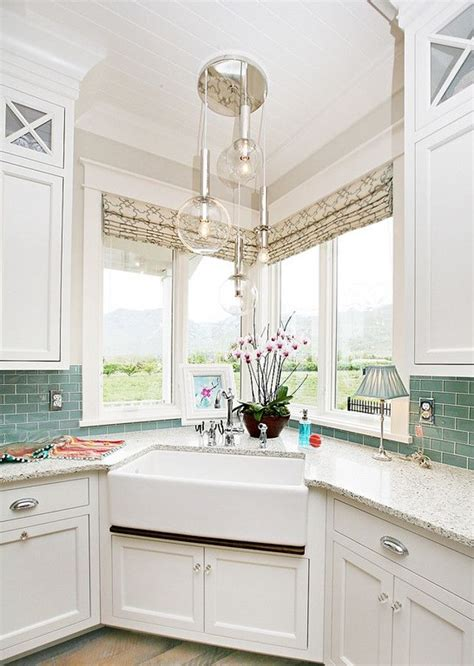 Kitchen Designs With Corner Sinks 17 Best Ideas About Corner Kitchen Sinks On Kitchen Sink Lighting Kitchen Sinks And
