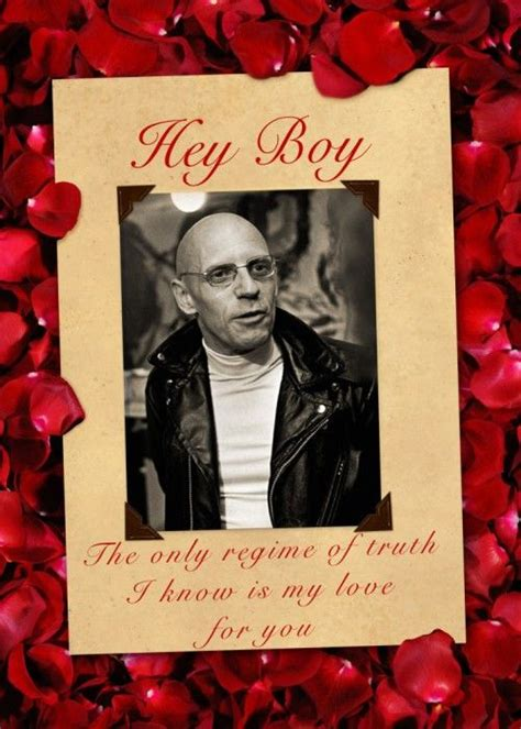 Philosophy Valentines Day Up by Foucault Card Regime Of Philosophy