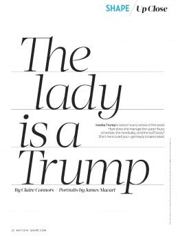 ivanka trump shape magazine usa may 2014 issue ivanka trump shape magazine 2014 may issue