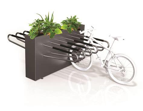 Box For Bike Rack by Bike Rack Sided Planter Box